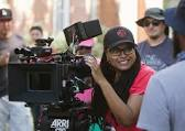 Ava DuVernay on set
