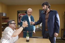"John Goodman, Alan Arkin and Ben Affleck  toasting ""Argo..... yourself."""