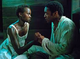 Lupita N'yongo and Chiwetel Ejiofor in 12 Years a Slave