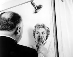 Mr. Hitchcock directs Miss Leigh in Psycho