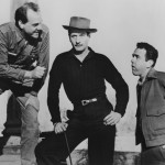 "Karl Malden and Eli Wallach (center) in Elia Kazan's ""Baby Doll,"" Wallach's feature debut."