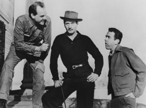 "Karl Malden and Eli Wallach (center) in Elia Kazan's ""Baby Doll,"" Wallach's feature debut."